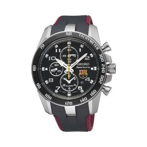 Seiko Sportura FC Barcelona Uhrenarmband SNAE93P1 Gummi Schwarz, Rot