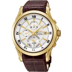 Seiko Premier Uhrenarmband SNAF22P1 Leder Braun