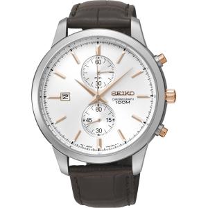 Seiko Quartz Uhrenarmband SNN277P1 Leder Braun