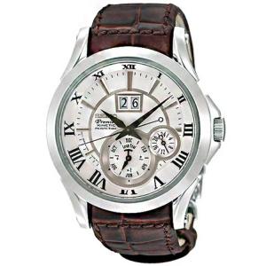 Seiko Premier Uhrenarmband SNP023P1 Leder Braun