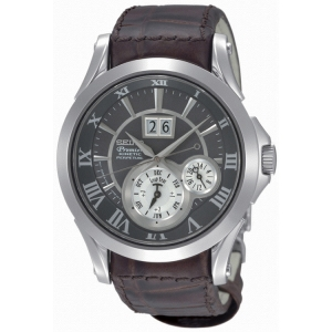 Seiko Premier Uhrenarmband SNP025P1 Leder Braun