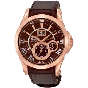 Seiko Premier Uhrenarmband SNP038 Leder Braun
