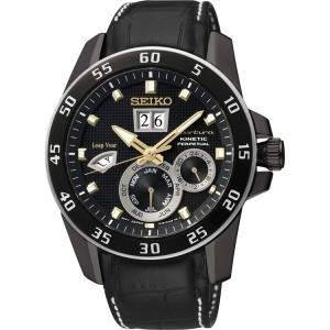 Seiko Sportura Uhrenarmband SNP089P1 Leder Schwarz