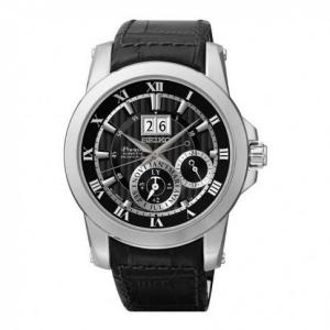 Seiko Premier Uhrenarmband SNP093P2 Leder Schwarz