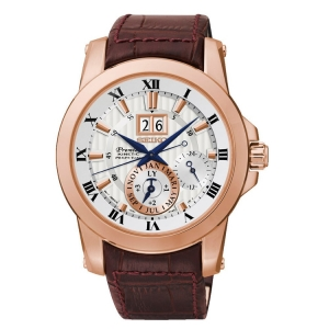 Seiko Premier Uhrenarmband SNP096P1 Leder Braun