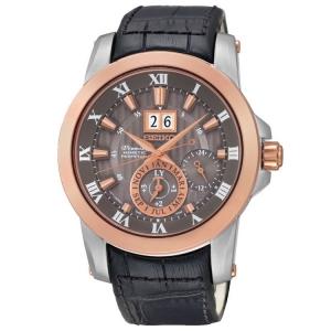 Seiko Premier Uhrenarmband SNP114P2 Leder Schwarz