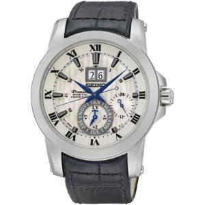 Seiko Premier Uhrenarmband SNP115P1 Leder Schwarz