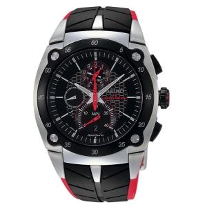 Seiko Sportura Uhrenarmband SPC009 Gummi Schwarz, Rot
