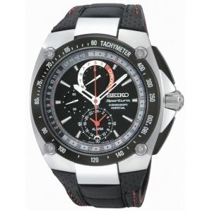 Seiko Sportura Perpetual Uhrenarmband SPC047P2 Leder Schwarz