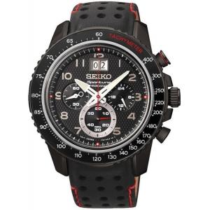 Seiko Sportura Uhrenarmband SPC141 Leder Schwarz
