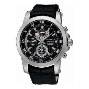 Seiko Premier Uhrenarmband SPC161P2 Leder Schwarz