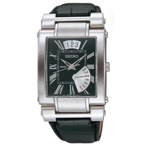 Seiko Uhrenarmband SPQ013 Leder Schwarz