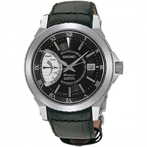Seiko Premier Uhrenarmband SRG001 Leder Schwar1