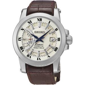 Seiko Premier Uhrenarmband SRG013P1 Leder Braun