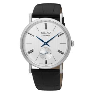 Seiko Premier Uhrenarmband SRK035P1 Leder Schwarz