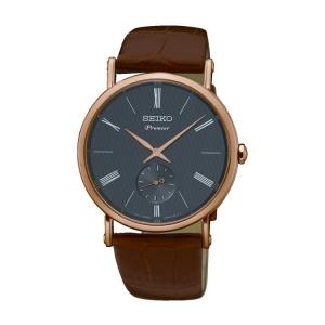 Seiko Premier Uhrenarmband SRK040P1 Leder Braun