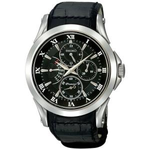 Seiko Premier Uhrenarmband SRL021P1 Leder Schwarz