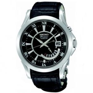 Seiko Premier Kinetic Uhrenarmband SRN005P1 Leder Schwarz