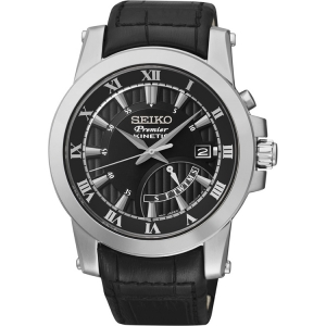 Seiko Premier Uhrenarmband SRN039P2 Leder Schwarz