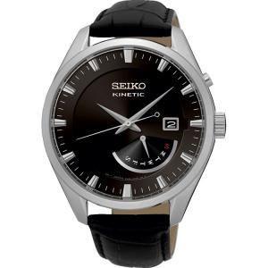 Seiko Kinetic Uhrenarmband SRN045P2 Leder Schwarz