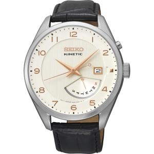 Seiko Kinetic Uhrenarmband SRN049P1 Leder Schwarz