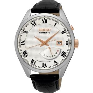 Seiko Kinetic Uhrenarmband SRN073P1 Leder Schwarz