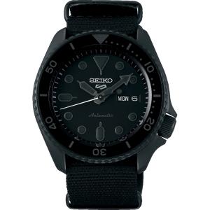 Seiko 5 Sports SRPD79 Uhrenarmband Nato Schwarz 22mm