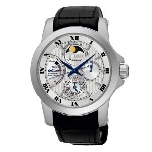 Seiko Premier Uhrenarmband SRX011P2 Leder Schwarz