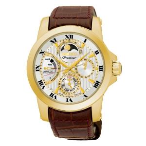 Seiko Premier Uhrenarmband SRX014P1 Leder Braun