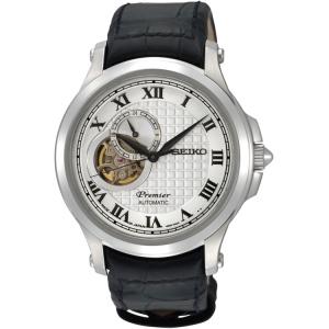 Seiko Premier Uhrenarmband SSA021J2 Leder Schwarz