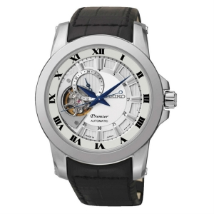 Seiko Premier Uhrenarmband SSA213J2 Leder Schwarz