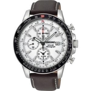 Seiko Solar Uhrenarmband SSC013P1 Leder Braun
