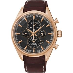 Seiko Solar Uhrenarmband SSC212P1 Leder Braun