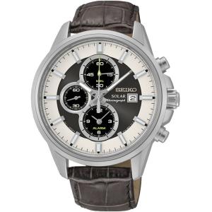 Seiko Solar Uhrenarmband SSC259P1 Leder Braun