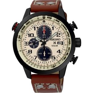 Seiko Solar Uhrenarmband SSC425P1 Leder Braun