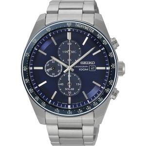Seiko Chronograph Solar Uhrenarmband SSC719 Edelstahl