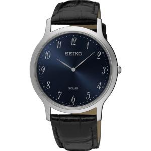Seiko Solar Uhrenarmband SUP861 Leder Schwarz