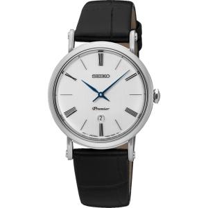 Seiko Premier Uhrenarmband SXB431P1 Leder Schwarz