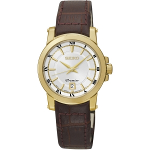 Seiko Premier Uhrenarmband SXDF48P1 Leder Braun