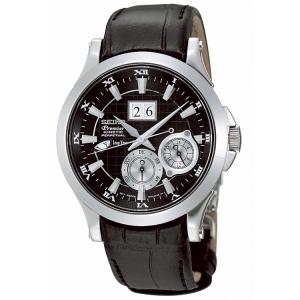 Seiko Premier Uhrenarmband SNP005P1, SNP001P1 und SNP003P1 Leder Schwarz - 20mm