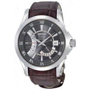 Seiko Premier Uhrenarmband SRH009P1 Leder Braun