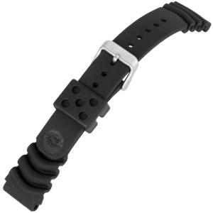 Seiko Land Monster Z20 Uhrenarmband Gummi Schwarz SNM037 SNM035 4K30ZZ - 20mm