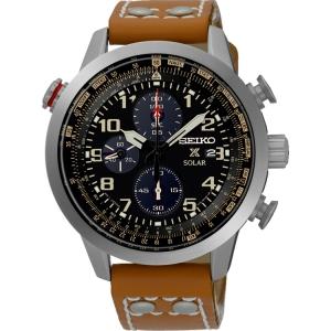 Seiko solar Uhrenarmband SSC421P1 Leder Braun