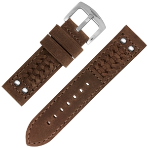 Strap Works Woven Ranger Uhrenarmband Medium Brown
