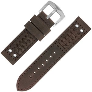 Strap Works Woven Ranger Uhrenarmband Dark Brown