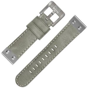 TW Steel Uhrenarmband Leder Grau Universell