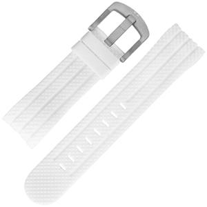 TW Steel Uhrenarmband TW95 Weiss Gummi 24mm