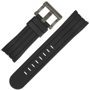 TW Steel Uhrenarmband TW613 Schwarz Gummi 24mm
