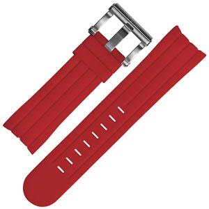 TW Steel Uhrenarmband TW124, TW124R - Gummi Rot 22mm