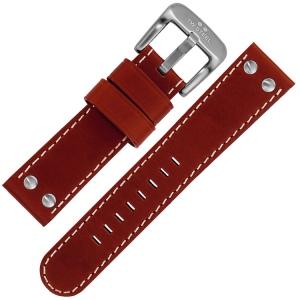 TW Steel Uhrenarmband TW1, TW1R, TW2, TW3, TW4, TW5 - Rotbraun 22mm
